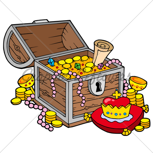 Treasure clipart animated. Open chest free download