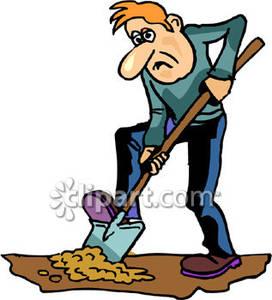 Digging free download best. Dig clipart old gardener