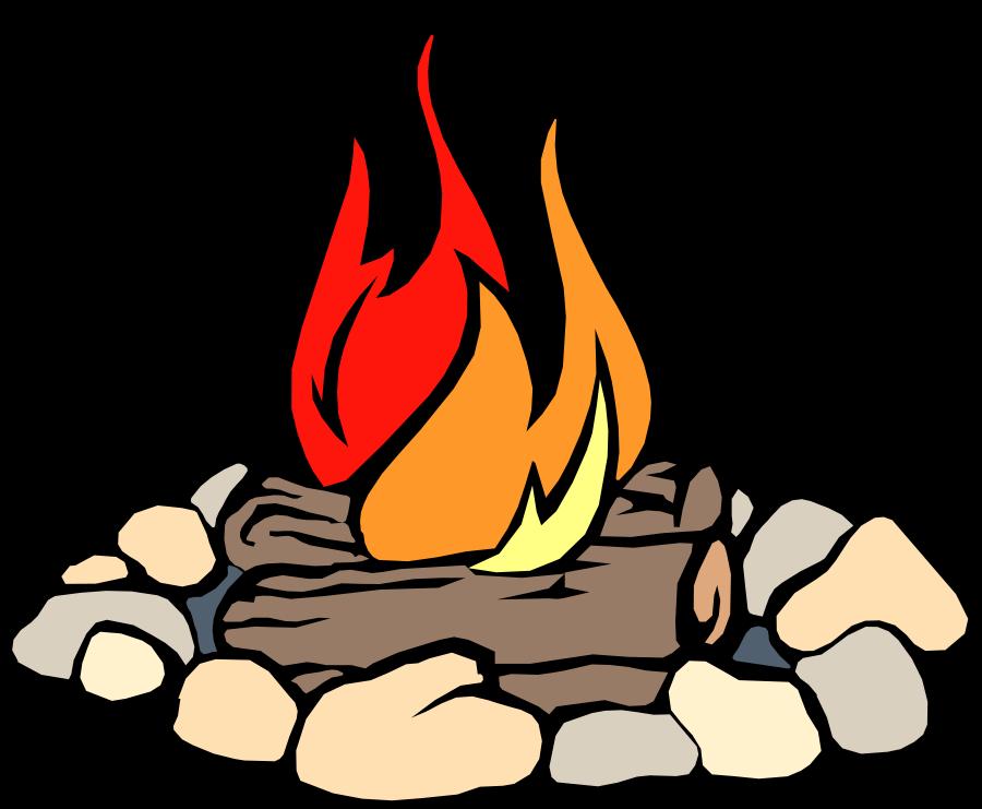 Pit group animations cliparts. Bonfire clipart fire log