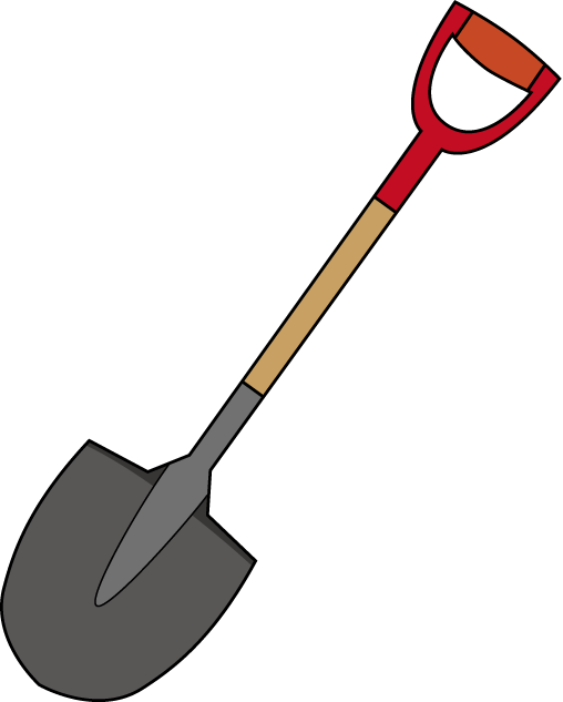 collection of free. Square clipart shovel