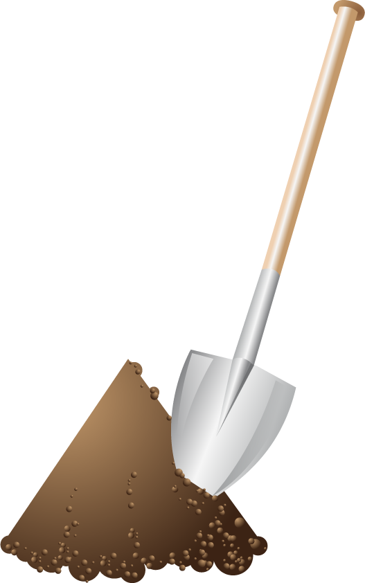 Mud clipart dirt mound.  collection of shovel