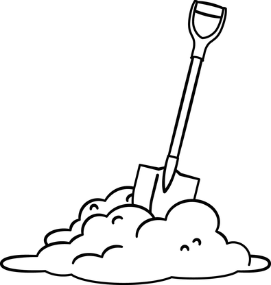 Free shovel cliparts download. Dirt clipart black and white