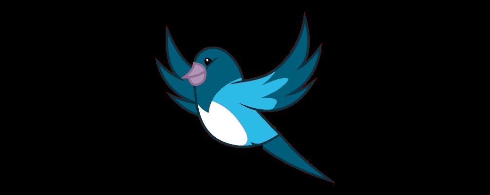 Bird vector png. Blue by blackstar on