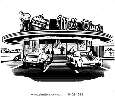 Retro s . Diner clipart