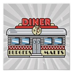 s sign stickers. Diner clipart