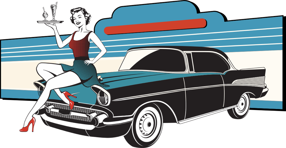 Diner clipart 1950s car. Home breakfast