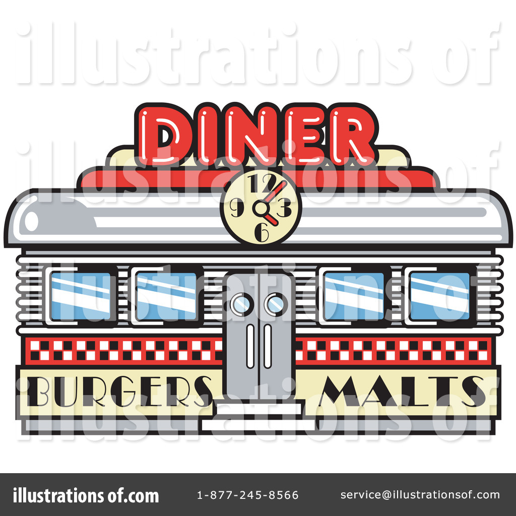 Illustration by andy nortnik. Diner clipart