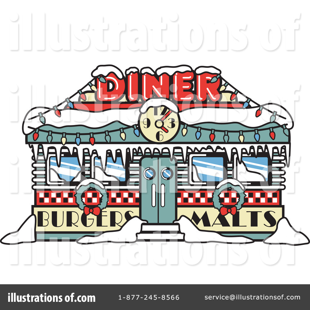 Diner clipart. Illustration by andy nortnik