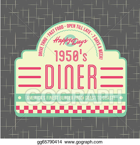 Vector art s style. Diner clipart american diner