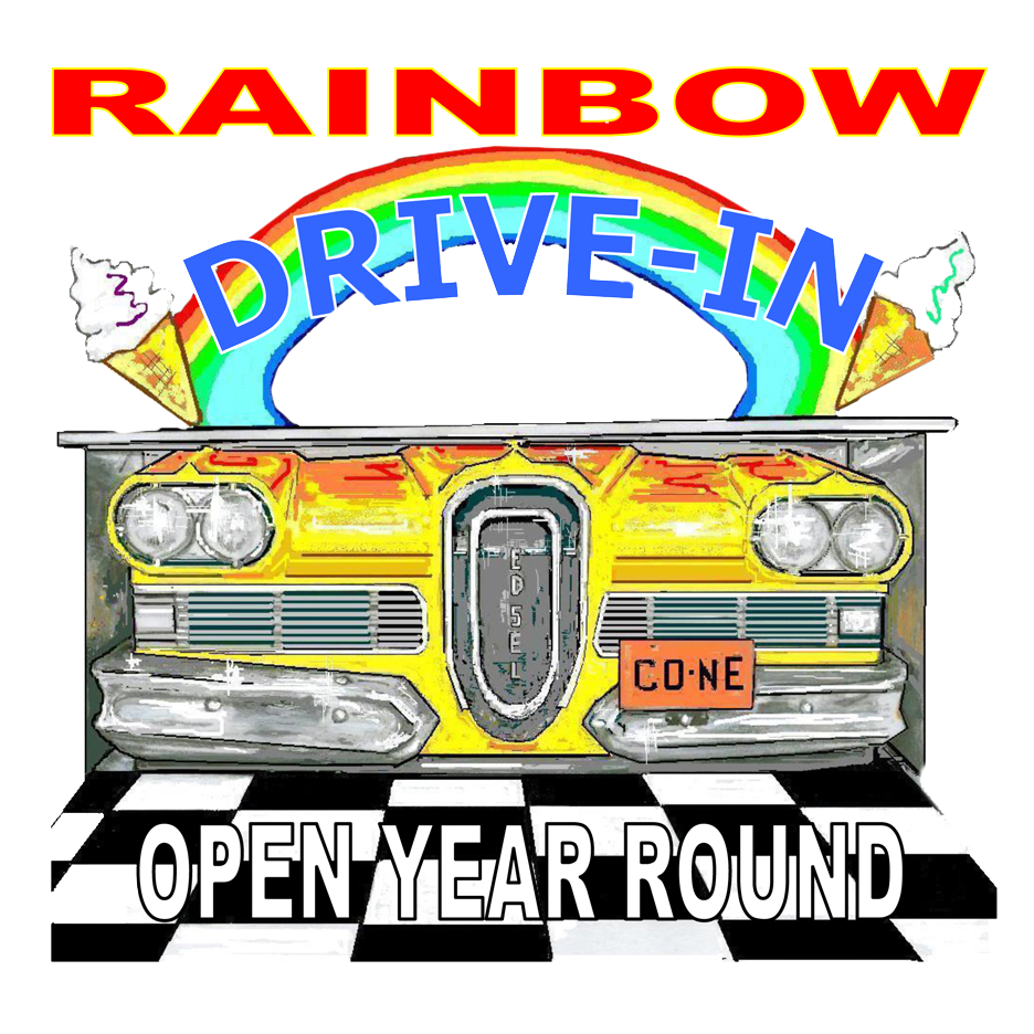 Rainbow drive in great. Diner clipart car cruise