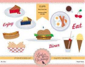 Image result for retro. Diner clipart diner food