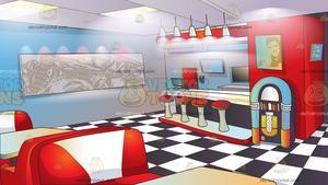 Diner clipart floor. Classic background