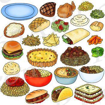 Dinner foods meals teachers. Diner clipart food served