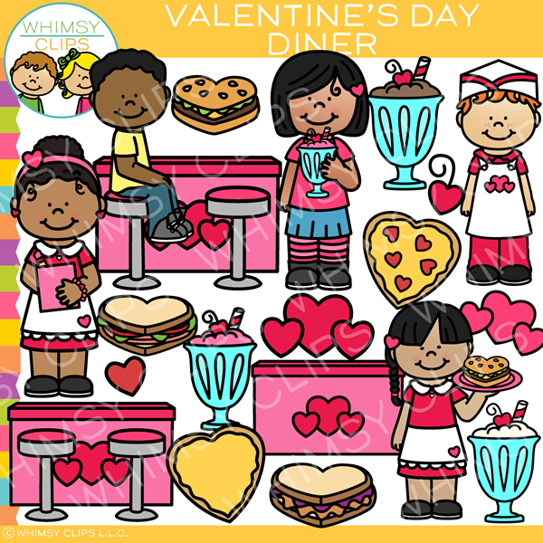 Diner clipart go to. Valentine s day clip