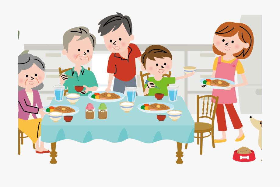 Dinner clipart family dinner. Diner communication graphics