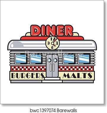 s fifties clip. Diner clipart malt shop