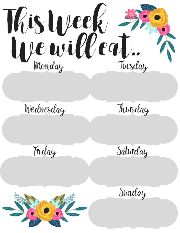 Planner clipart meal plan. Free cliparts download clip