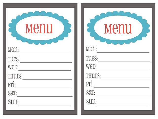 Free meal plan cliparts. Planner clipart dinner menu