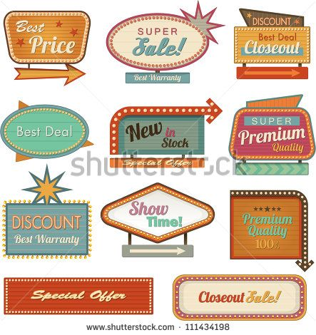 Illustrations from the s. Diner clipart motel sign