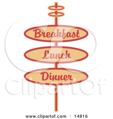 Red illustration by andy. Diner clipart restaurant sign