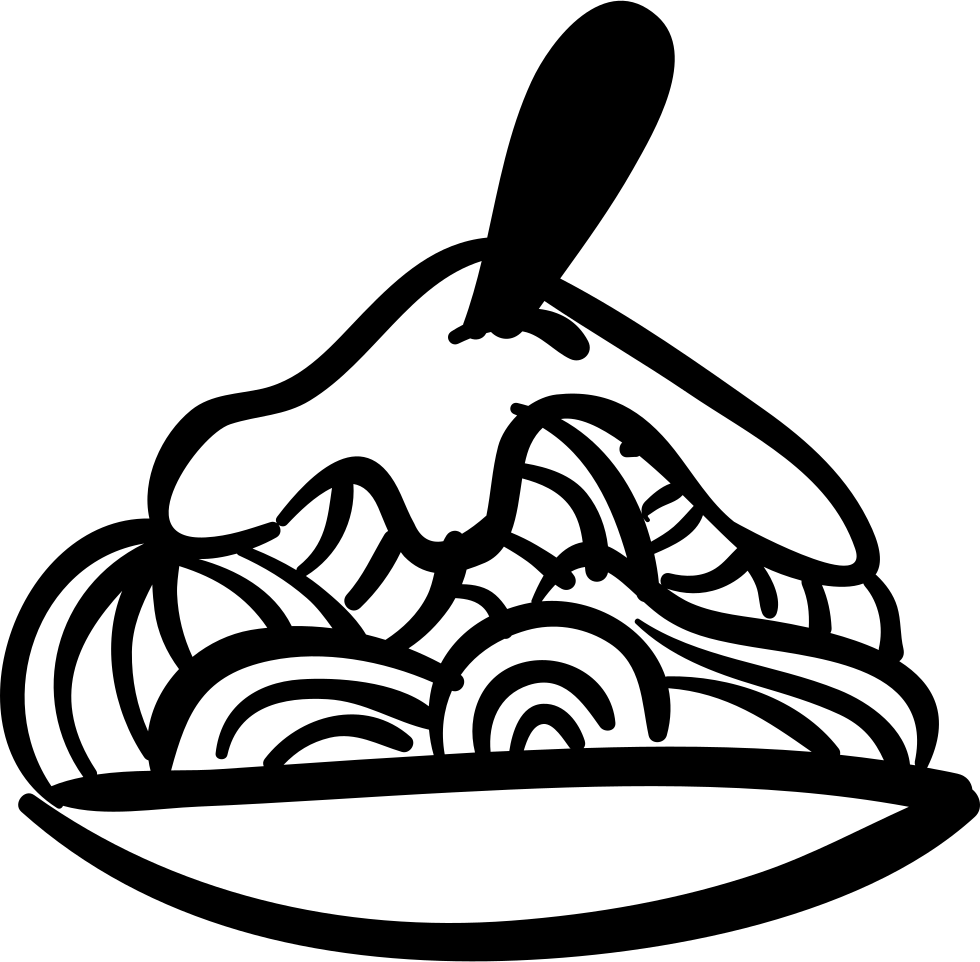 Plate of food drawing. Soup clipart hand drawn