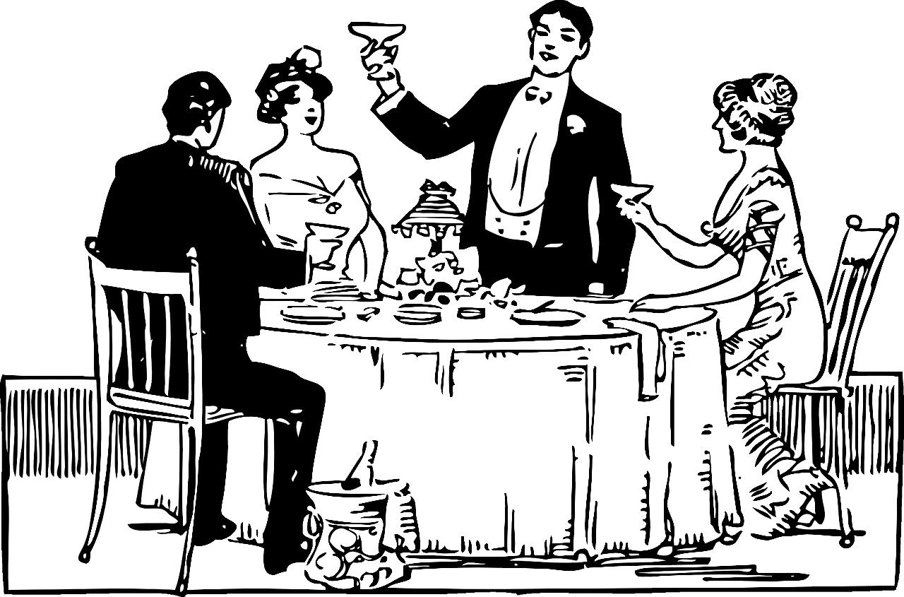 The art of hosting. Diner clipart table etiquette