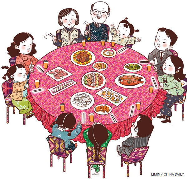 Family lives on at. Dinner clipart dining etiquette