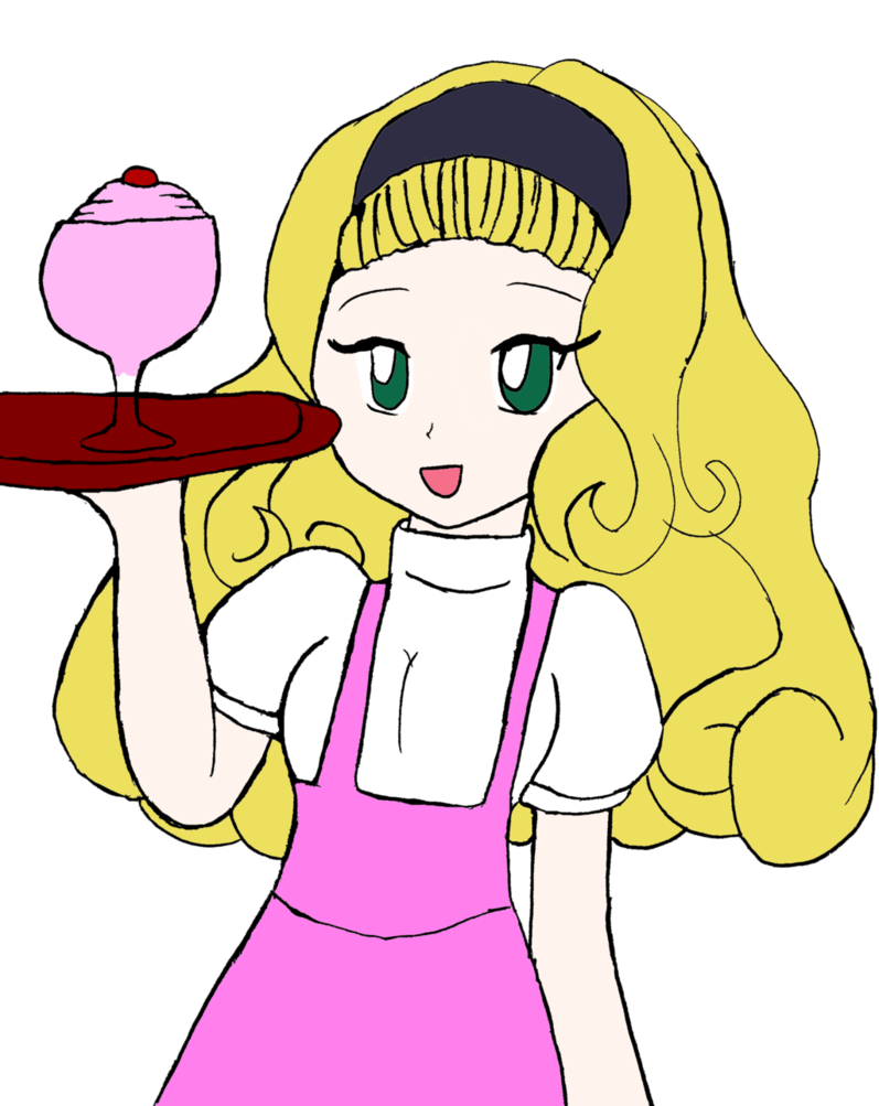 Hm holiday art trade. Waitress clipart diner waitress