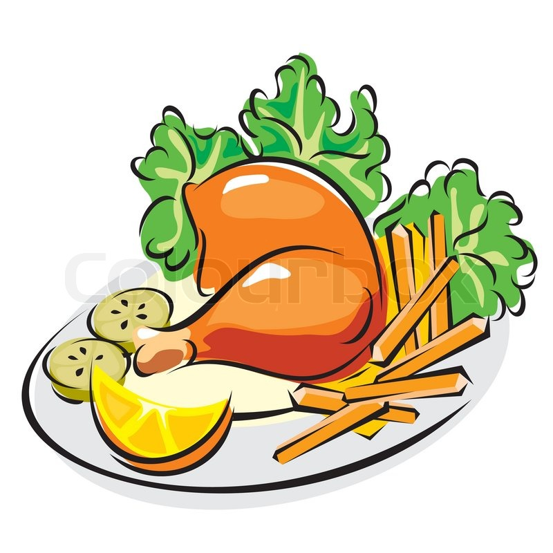Dinner clipart. Cooked chicken free clip