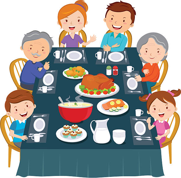 Eating eat station money. Dinner clipart