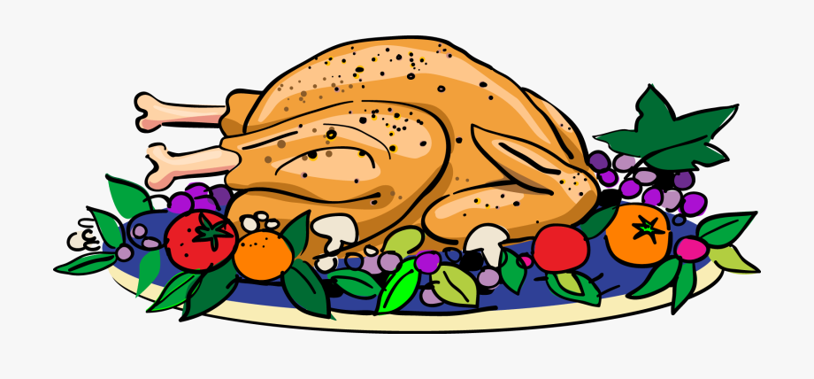 Clipart turkey food. Thanksgiving feast plate dinner