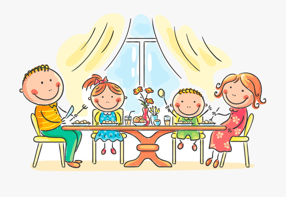 feast clipart family dining