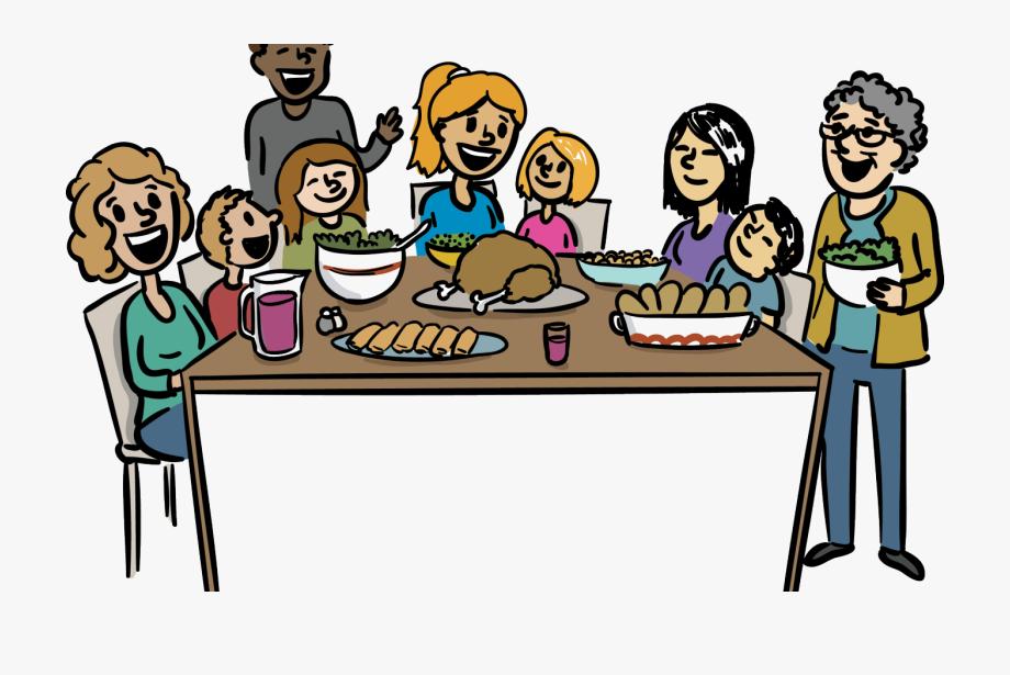 Dinner clipart big meal. Family clip art psbprorg