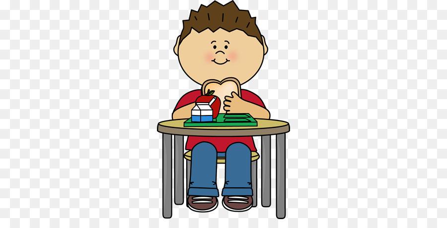 Cartoon breakfast eating transparent. Dinner clipart boy
