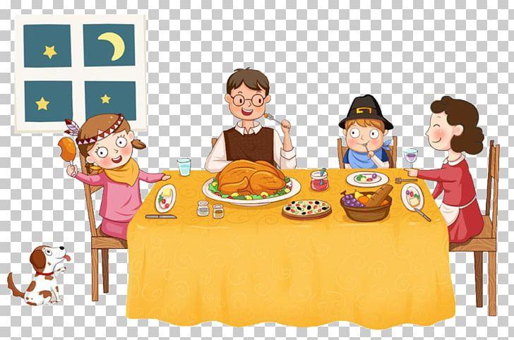 Table png child cuisine. Dinner clipart cartoon