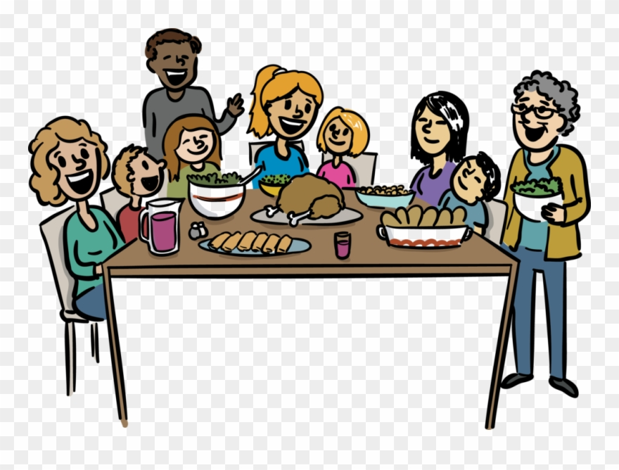 Dinner clipart cartoon. Large size of thanksgiving