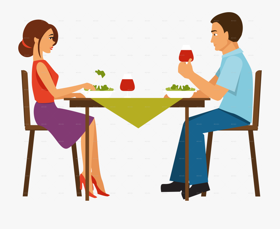 Eating transparent png free. Dinner clipart couple dinner