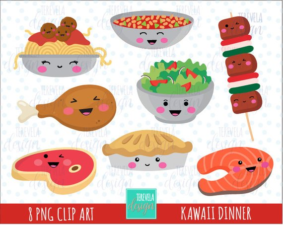 sale food graphics. Dinner clipart cute
