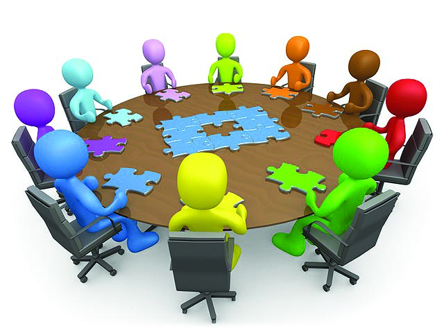 Dinner meeting clip art. Discussion clipart group role