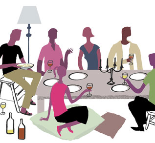 Dinner clipart dinner party. Free cliparts download clip