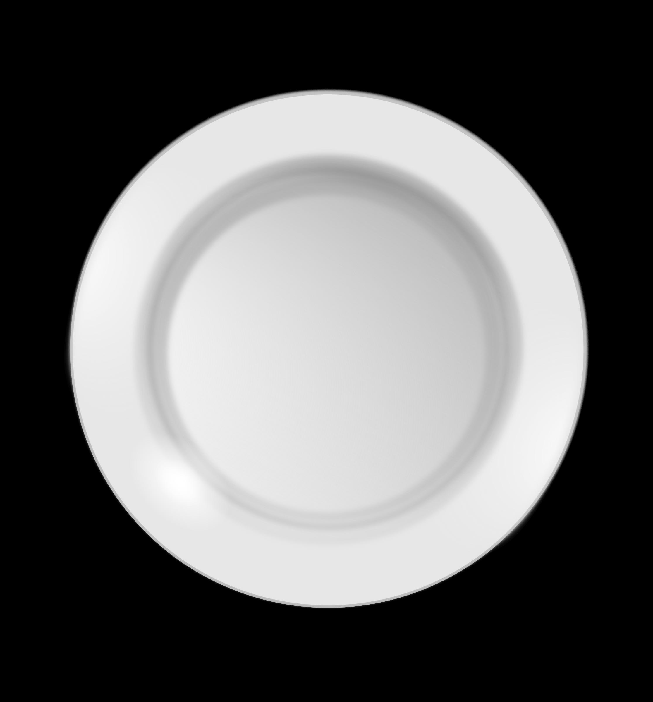 Dish transparent background plate