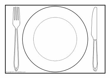 Sketch at paintingvalley com. Dinner clipart empty plate