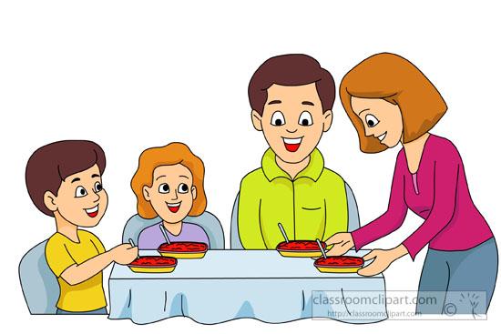 Dinner clipart family dinner.  clipartlook