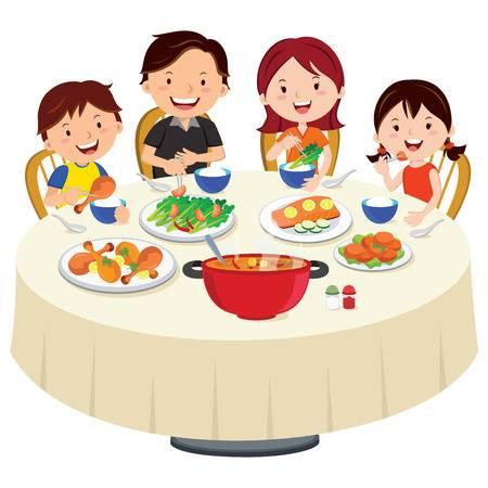 Dinner clipart family dinner. Station
