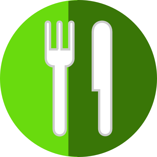 Plate fork knife clip. R clipart icon
