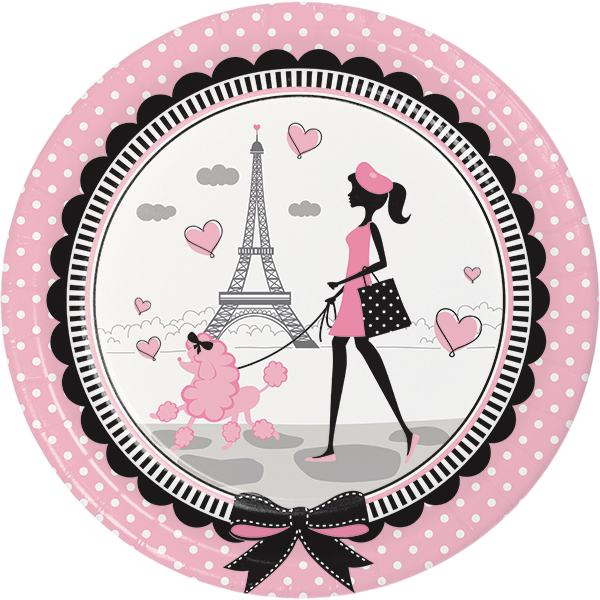 Paris party plates little. Napkin clipart dinner napkin