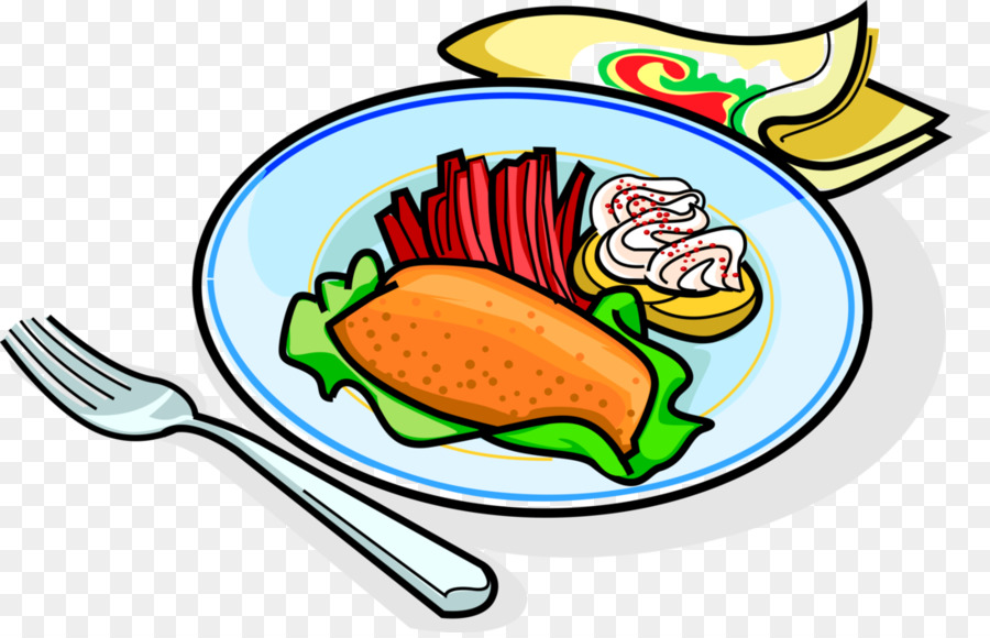 Dinner clipart meal. Chicken cartoon food restaurant
