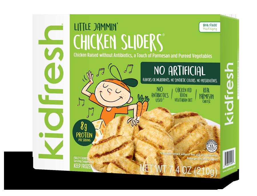 Little jammin chicken sliders. Dinner clipart mealtime