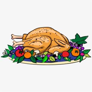 Thanksgiving food plate turkey. Feast clipart trip
