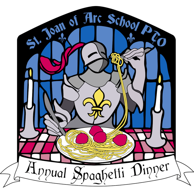 Raffle clipart breakfast basket. Spaghetti dinner st joan